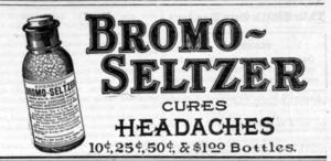 Bromo-Seltzer - Bromo-Seltzer newspaper ad (1908)