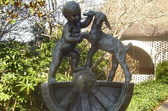 Brenda Putnam - Two Kids Sundial (1931), Brookgreen Gardens, Murrells Inlet, South Carolina.