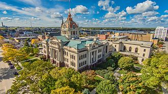 Brown County, Wisconsin - Image: Brown County Courthouse Aerial