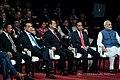 Brunei Darussalam Sultan Haji Hassanal Bolkiah, People's Republic of China Premier Li Keqiang, Cambodia Prime Minister Hun Sen, Indonesia President Joko Widodo, and Indian Prime Minister Narendra Modi at the 31st ASEAN Summit.jpg