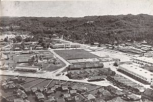 Bandar Seri Begawan - Brunei Town in the 1950, with the starting of the redevelopment