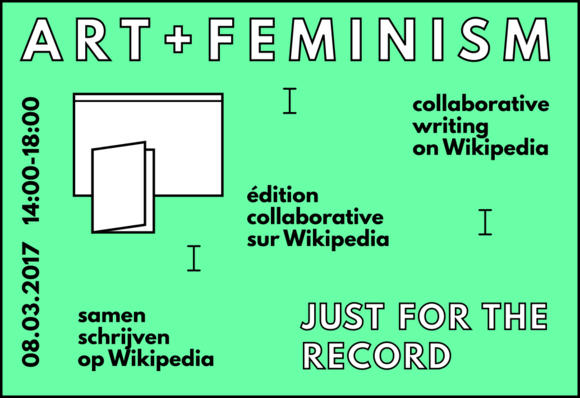 Flyer for the Brussels Art+feminism workshop 2017