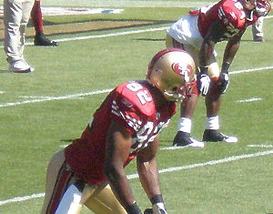 Bryant Johnson - Johnson with the San Francisco 49ers