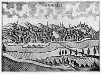 Bucharest, early 18th century, woodcut.jpg