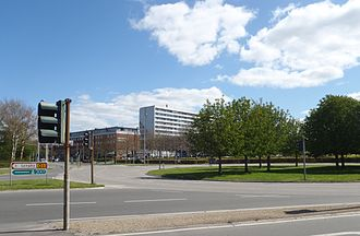 Buddinge - Buddinge. Spring 2012 at the big roundabout.