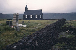 Church near Búðir, August 1989