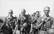 Soldiers walking towards the camera