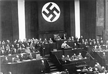 "Hitler address the Reichstag 23Mar1933 re ""enabling acts"""