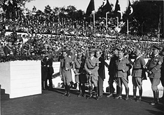 Nuremberg Laws - NSDAP dignitaries at the 1935 Nuremberg Rally