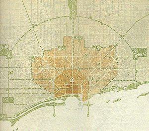 Daniel Burnham's 1909 plan for Chicago, IL, USA