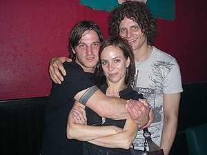 Burning Brides - Left to right: Pete Beeman, Melanie Coats, and Dimitri Coats in 2007