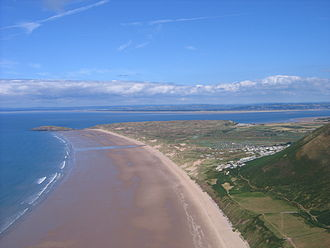 River Loughor - Looking out to the Loughor estuary from Rhossili