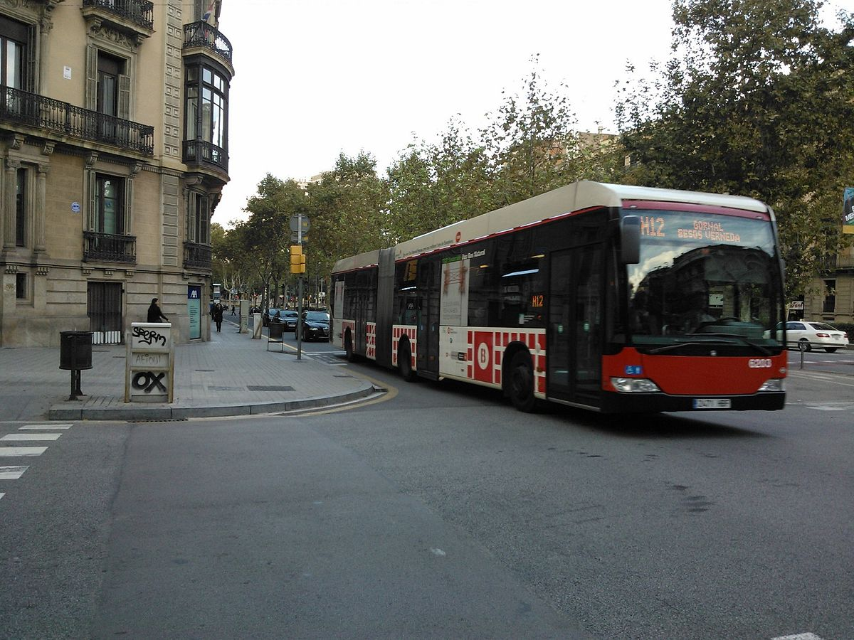 L nea h12 de la red ortogonal de autobuses de barcelona for Linea barcelona