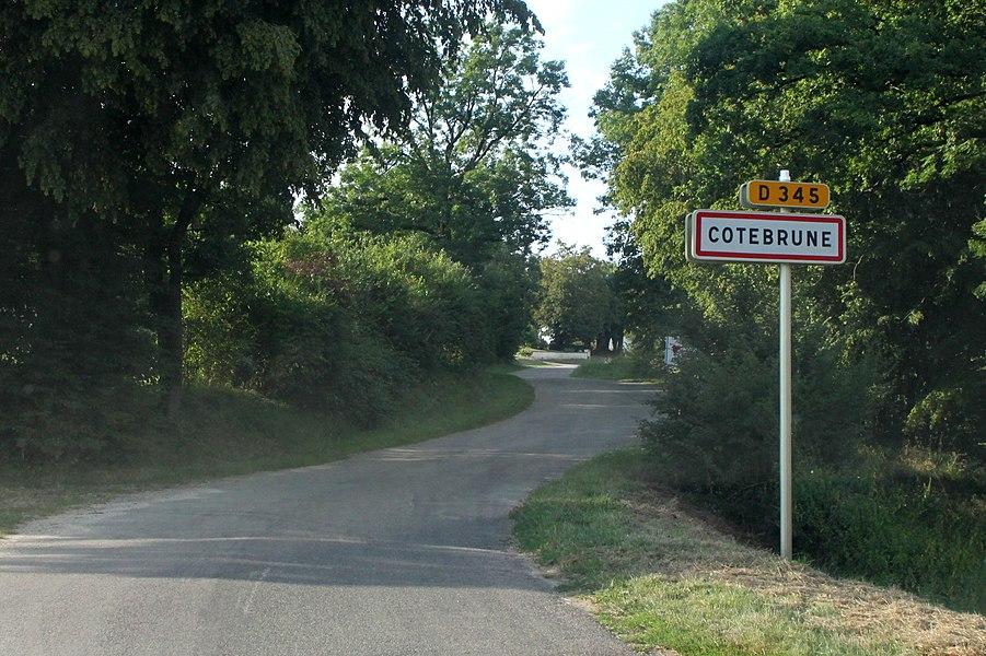 Entrée de Côtebrune (Doubs).