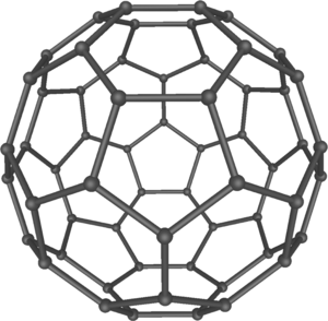 60 (number) - Buckminsterfullerene C60 has 60 carbon atoms in each molecule, arranged in a truncated icosahedron.