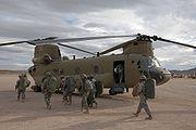 CH-47F at NTC 2008