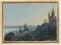 CH-NB - Neuveville, La, Schlossberg mit Aussicht auf die Berneralpen - Collection Gugelmann - GS-GUGE-STUNTZ-B-1.tif