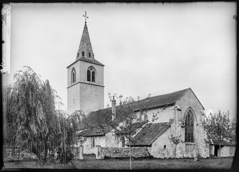 CH-NB - Villeneuve (VD), Eglise Saint-Paul, vue d'ensemble - Collection Max van Berchem - EAD-7567