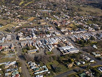 Yass, New South Wales - Aerial photograph of Yass