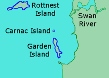 Carnac Island Map Carnac Island   Wikipedia