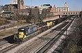 CSX freight passing Akron Union Depot, November 24, 1990.jpg