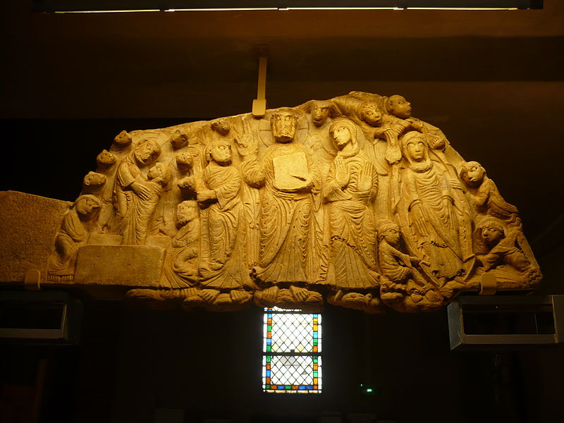 Tympan de l'église de Cabestany