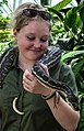 Cairns Dome Python and Handler-04 (8233776451).jpg