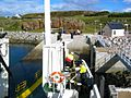 CalMac Ferry Tying Up at Muck - geograph.org.uk - 68378.jpg