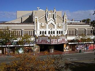 Downtown San Bernardino - The historic California Theatre.