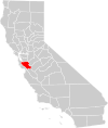 California county map (Santa Clara County highlighted).svg
