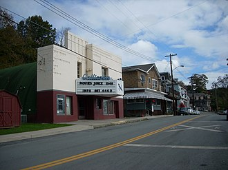 Callicoon (CDP), New York - Callicoon Theater and other buildings in the business district.