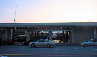 San Francisco 4th and King Street Station - Front of station viewed on 4th Street, 2007.