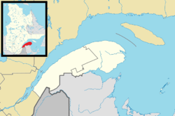 Matane is located in Eastern Quebec