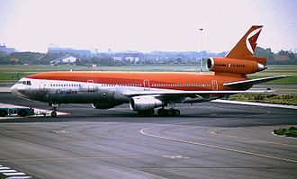 Canadian Airlines - McDonnell Douglas DC-10-30 in crossover CP Air livery at Amsterdam Airport Schiphol in 1988