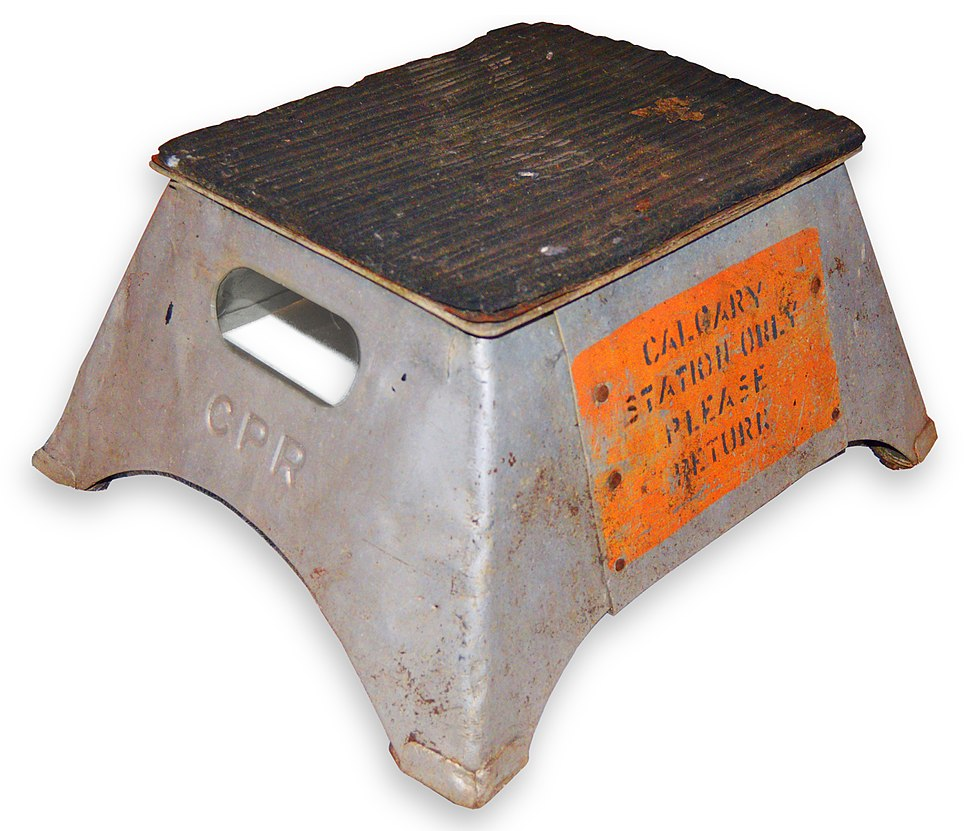 Canadian Pacific Railway train step stool