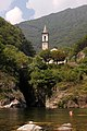 Cannobio - Church of Sant'Anna above the Cannobino river 1484.jpg