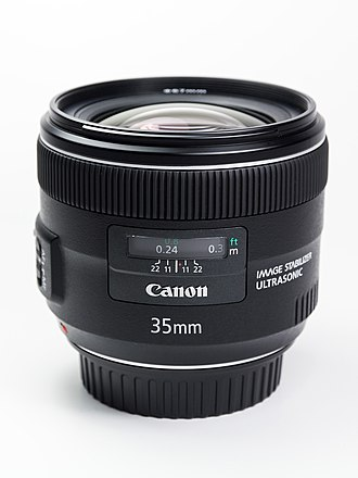 Canon EF 35mm lens - Image: Canon EF35mm F2 IS USM