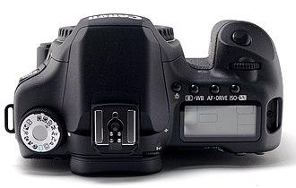 Canon EOS 50D - Image: Canon EOS 50D Top
