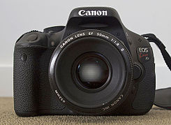 Canon EOS 600D with Canon EF 50mm F1.8.jpg