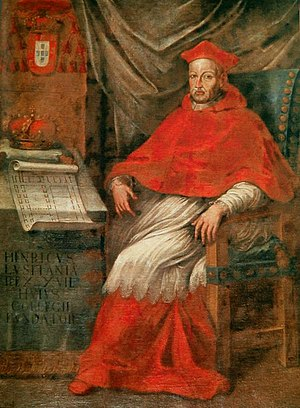 Crown-cardinal - Henrique I of Portugal was both a cardinal and King of Portugal.