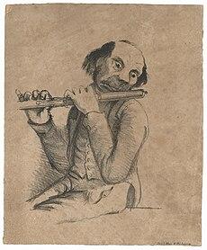 Christian Reimers: Das Leipziger Gewandhausorchester im Lichte der Satire, 19 Karikaturen, lithographiert von Blau & Co., Leipzig um 1850. (Quelle: Wikimedia)
