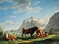 Carl Kuntz - Berglandschaft mit weidenden Kühen (1822).jpg
