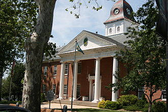 Caroline County, Maryland - Image: Caroline County M Dcourthouse