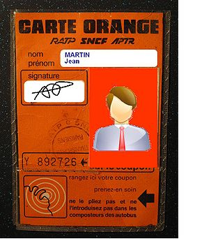 Carte orange - Envelope of a carte orange