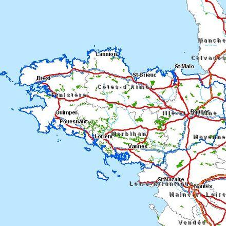Carte Bretagne Quimper.Plan Routier Breton Wikipedia