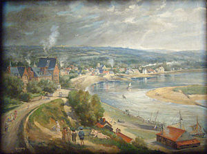 Barneville-Carteret - The port in the 19th century by Adolphe Lalyre