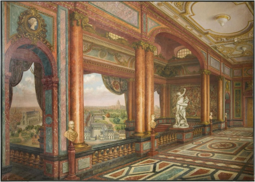 File:Cartoon of the interior of the Arenberg Palace ...