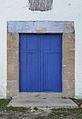 Casa fortificada de Benitzaina, porta blava.JPG
