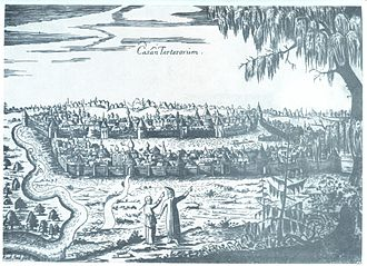 Kazan - A view of Kazan by Adam Olearius, 1630