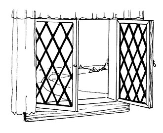 Casement window - Casement window, with latticed lights